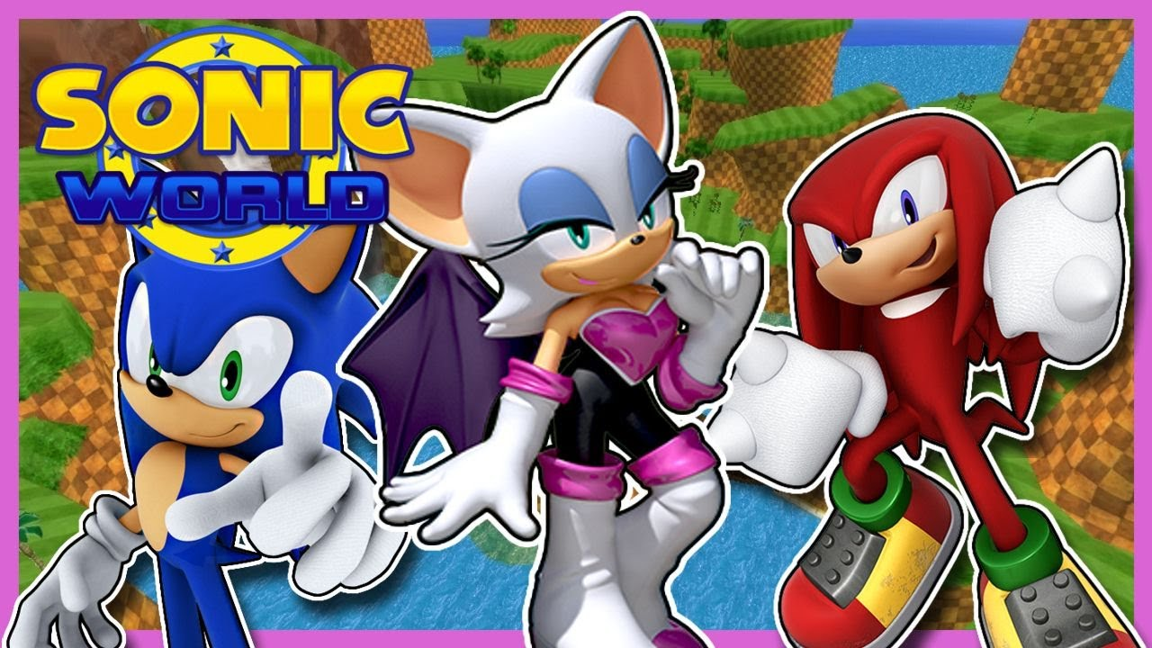 My favourite boys | Rouge plays Sonic World feat. Sonic & Knuckles