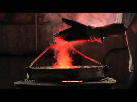 fabrication du bronze a La Fonderie d'Art d'Inverness