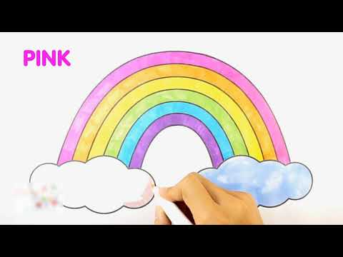 رسم قوس قزح للأطفال Youtube
