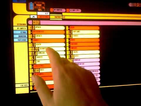 Star Trek TNG LCARS Voice and Touch Demonstration