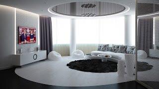 Черно-белый дизайн интерьера 3-х комнатной квартиры(Дизайн интерьера выполнен студией ARTlike (г.Киев, http://www.artlike.com.ua/, (044) 331-63-58). Интерьер этой квартиры выдержан..., 2015-02-11T17:15:54.000Z)