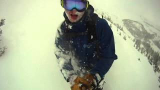 Deep POWDER Early Season Colorado Ski Snowboard October 2012