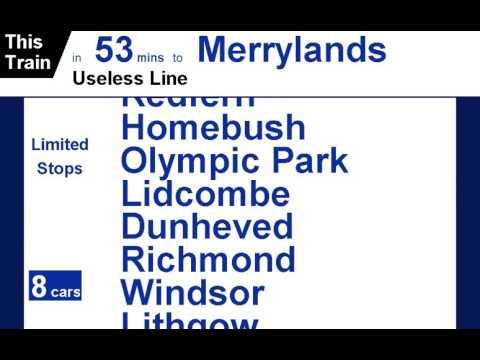 Sydney Trains Announcements #6 A Useless Line
