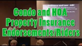 condominium hoa master insurance replacement cost realities