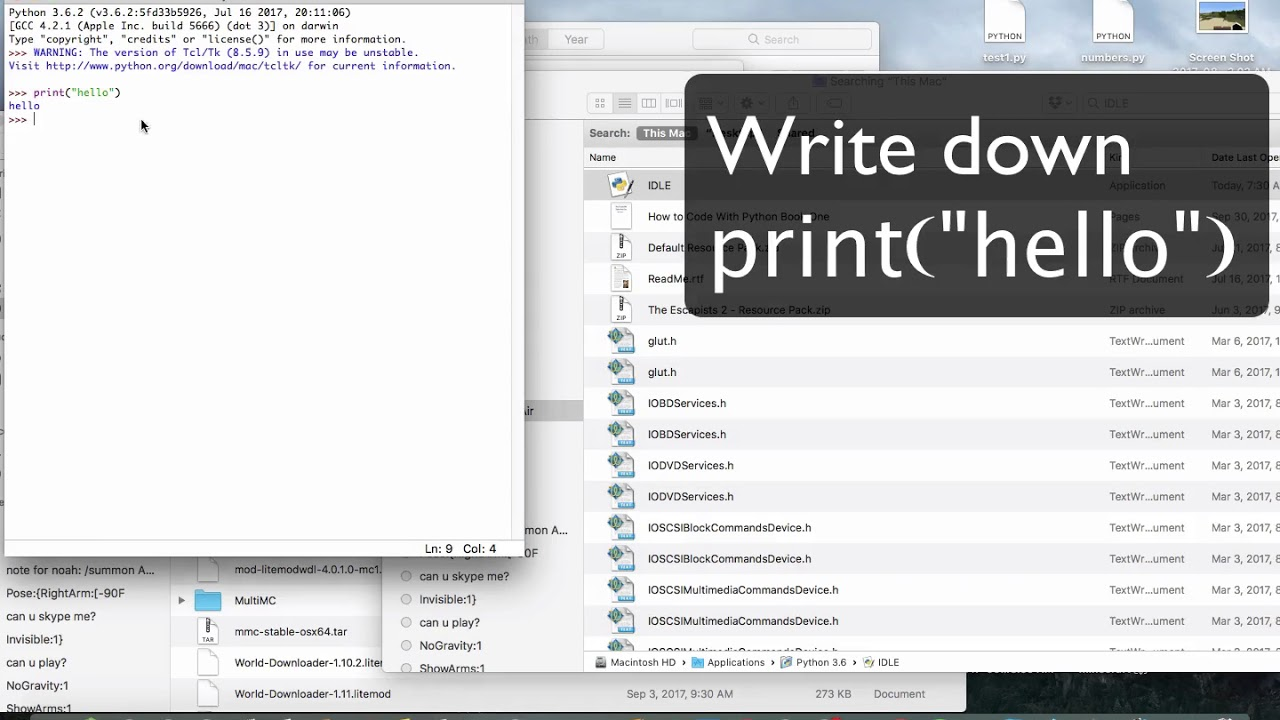 Idle editor for mac  Intro to Python IDLE on Mac OS X