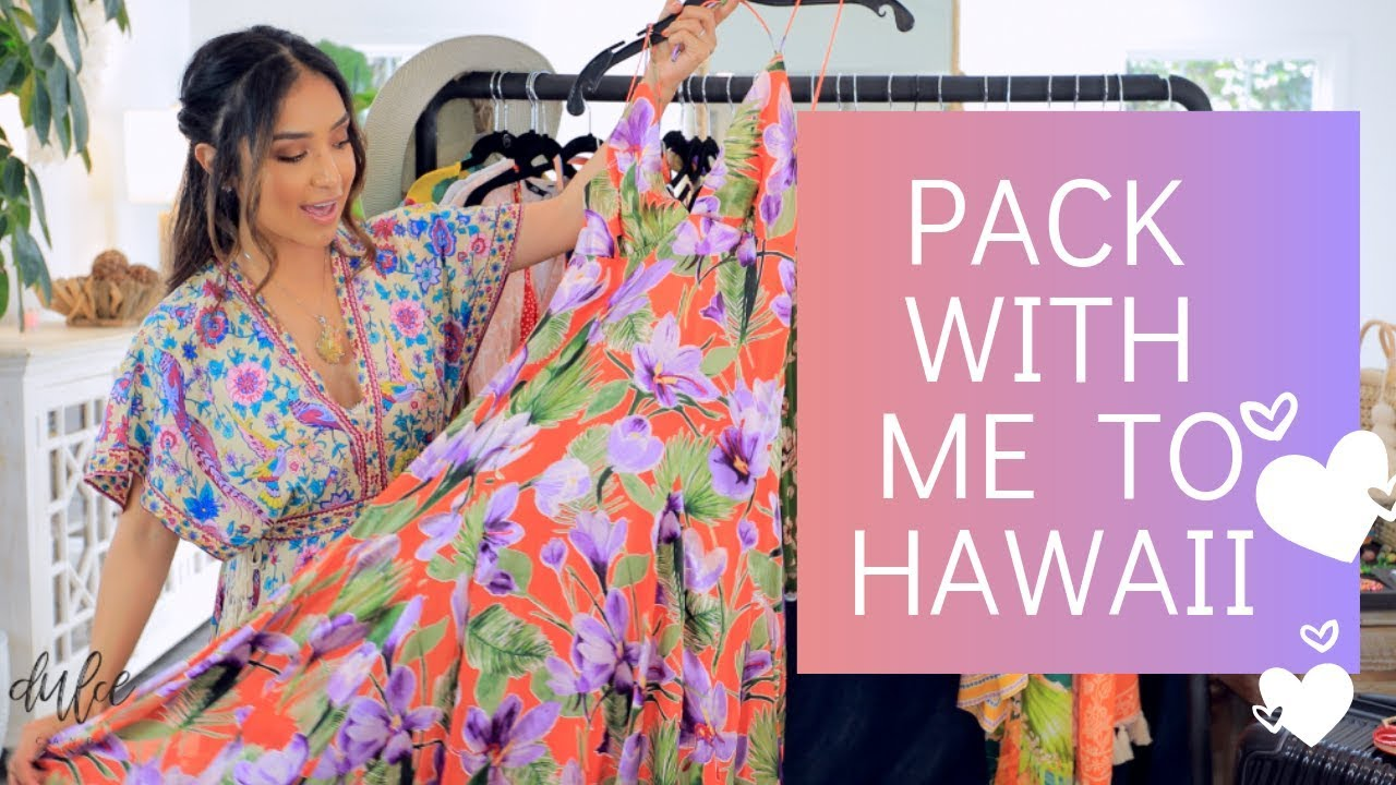 Pack With Me For Hawaii | Tropical Vacation Outfits + Travel Must Haves