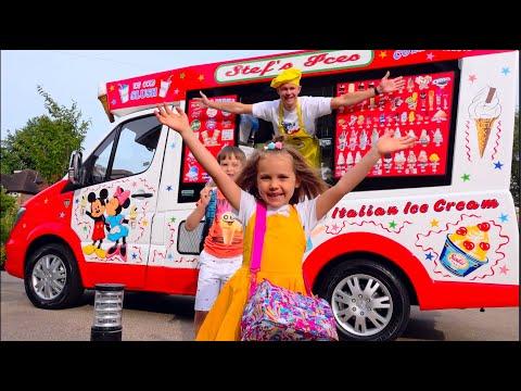 Макс и Катя в папином вагончике мороженого
