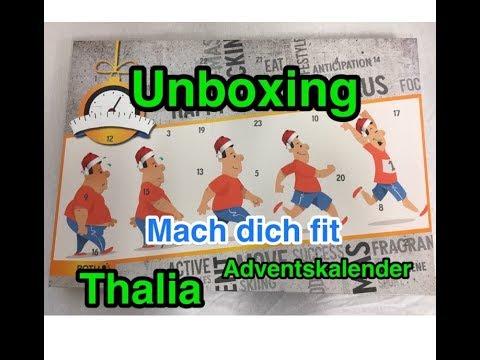Fitness Weihnachtskalender.Fitness Unboxing Thalia Adventskalender Mach Dich Fit 2017 Ausgepackt