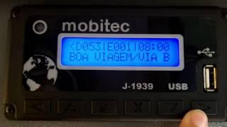 Painel eletrônico Mobitec do Paradiso 1200 G7 com Waguinho Guitar