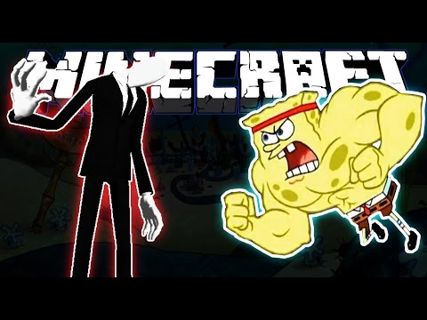 Minecraft   SpongeBob vs Slenderman   The Battle For Bikini Bottom