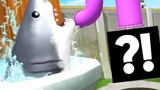 GIANT SHARK FLUSHED DOWN THE MAGIC TOILET! - Amazing Frog - Part 129 | Pungence