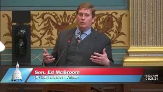 Sen. McBroom addresses the Senate on COVID-19 restrictions, divisiveness