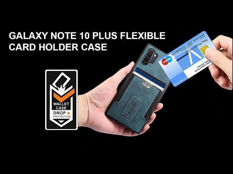 Spaysi Samsung Galaxy Note 10+ Plus Slim Leather Wallet Case Flexible Card Holder, Stand Case