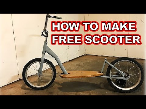 Make a Kick Scooter for Basically Free