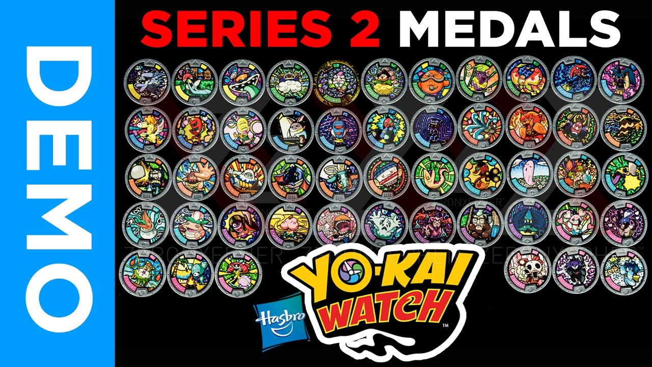 4k hasbro yo kai watch all series 2 medals from for Decoration yo kai watch