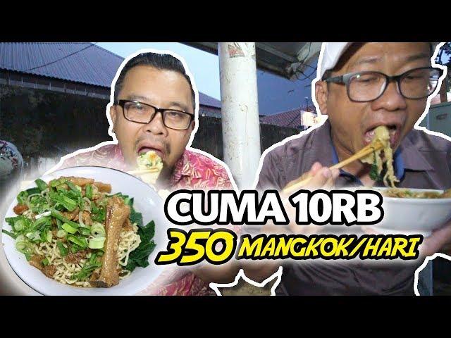 MURAH DAN LARIS!!! MIE AYAM INI CUMA 10RB DAN SEHARI JUAL 350 MANGKOK!!! INDONESIAN STREET FOOD