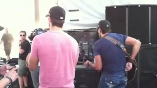 Luke Bryan at Stagecoach Music Festival - Backstage