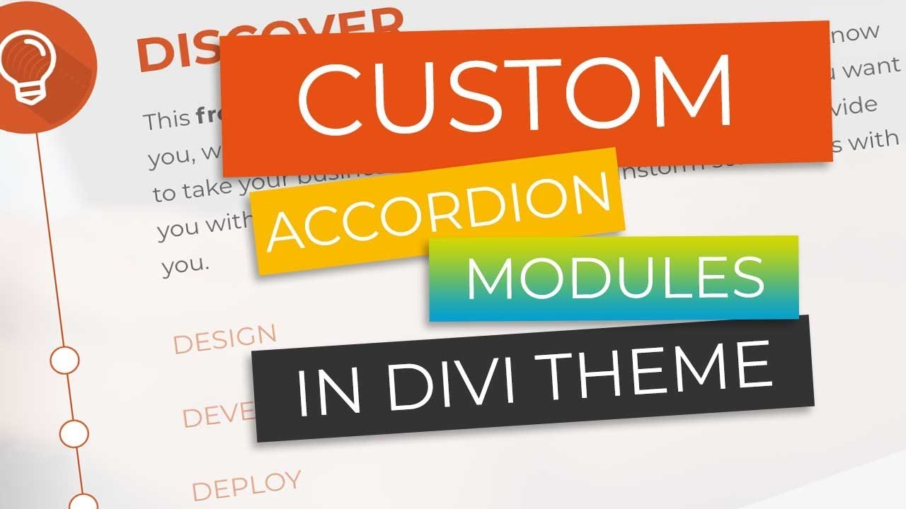 Make Amazing Custom Accordions in Divi Theme for Wordpress in under 5  Minutes!!