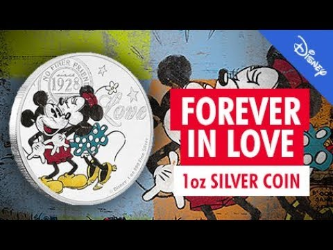 Disney - Forever In Love 1oz Silver Bullion Coin - Limited Mintage