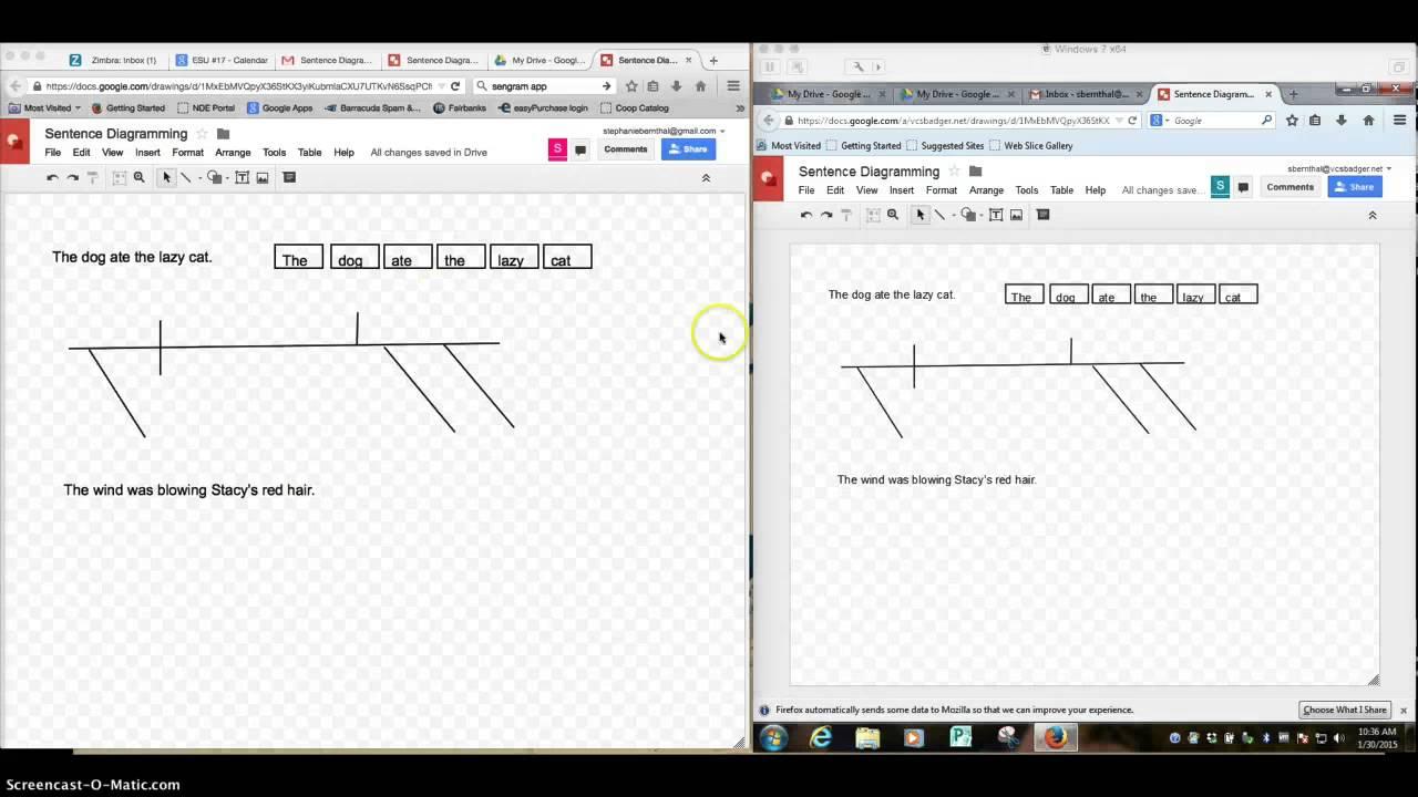 Diagramming sentences using google drawings youtube diagramming sentences using google drawings ccuart Gallery