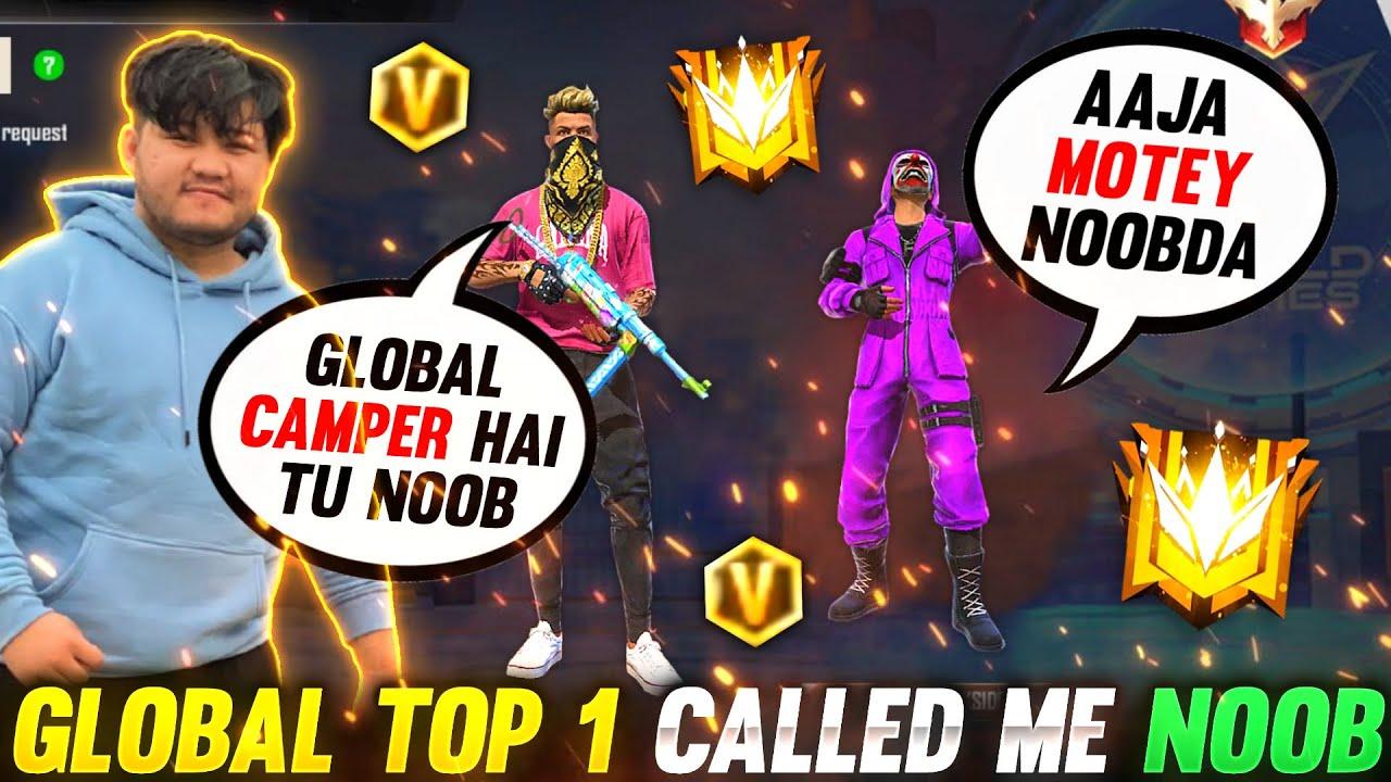 Global Top 1 GrandMaster Player Vs Season 2 Hiphop Bundle|| आजाओं 1vs3 में🔥 😂Garena Freefire