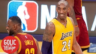 The 'brilliant wizardry' of Kobe Bryant's comments on LeBron James | Golic and Wingo | ESPN
