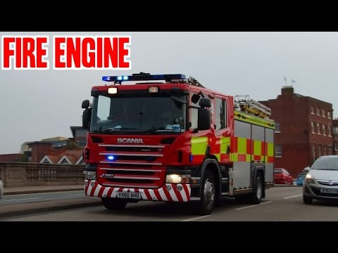 Fire engine responding - Scania P280 Pump