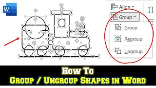 How to Group and Ungroup Shapes | Microsoft Word 2016 Drawing Tools Tutorial | The Teacher