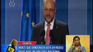 Presidente del Parlamento europeo señaló que la democracia en Venezuela está en peligro