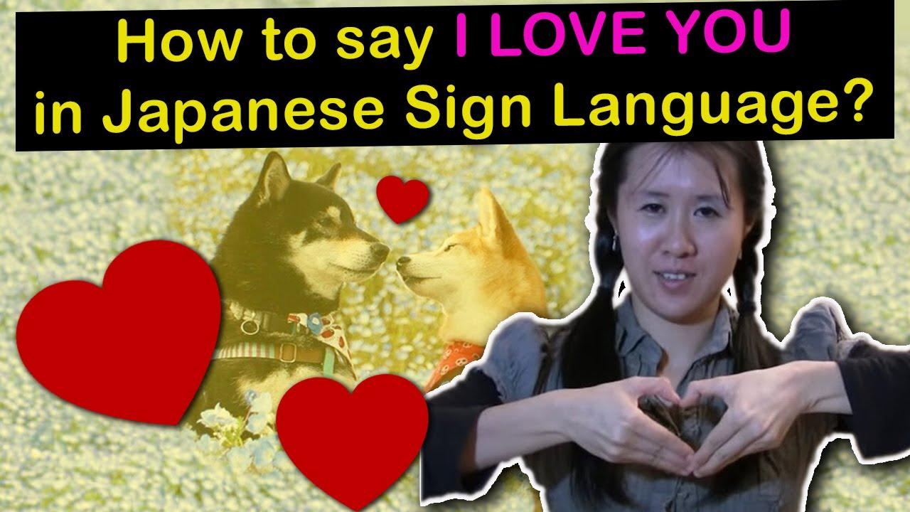 Lesson 13 I Love You Japanese Sign Language Tutorial