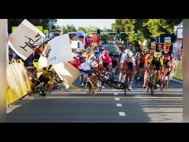 Tour de Pologne: un cycliste entre la vie et la mort après une terrible chute sur la ligne d'arrivée