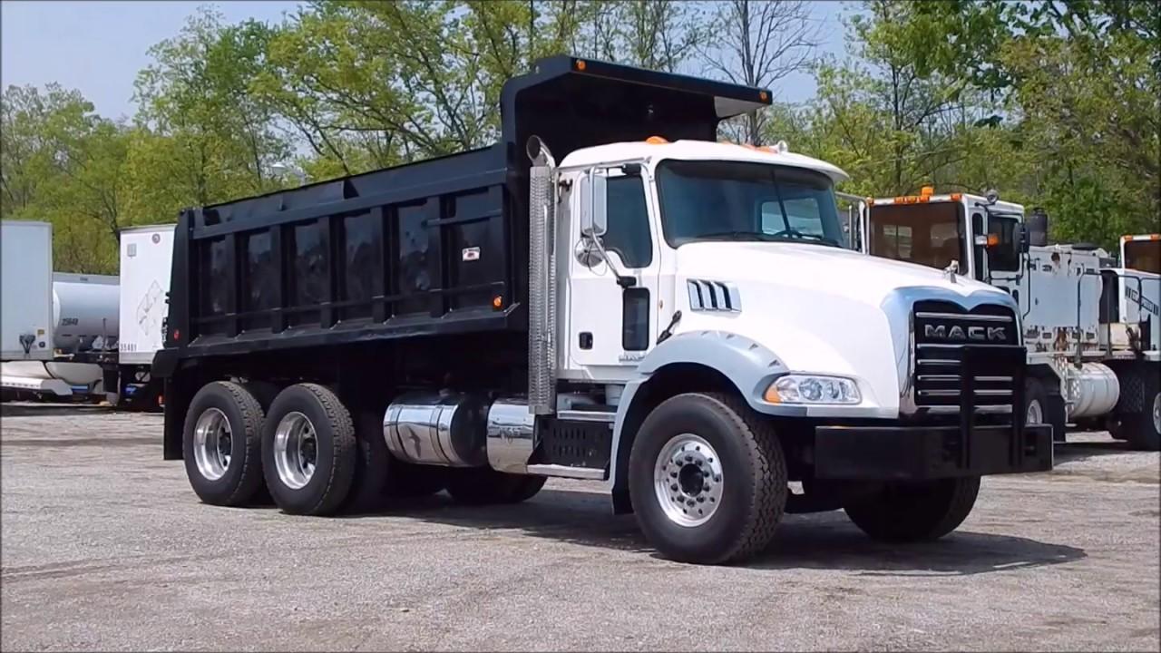 2012 mack granite dump truck 7327 [ 1280 x 720 Pixel ]