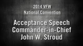 VFW Elects Commander-in-Chief John Stroud