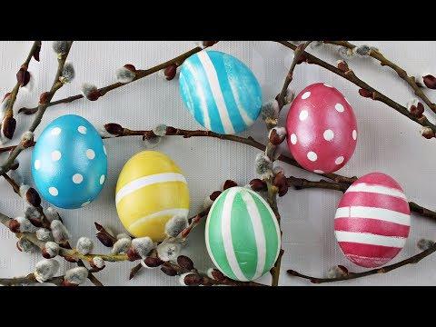 Пасха: окрашиваем яйца