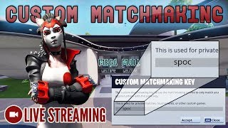 🔴 Custom Matchmaking - NA East - Code is spoc [Fortnite] LIVE