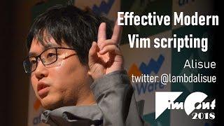 [En] Effective Modern Vim scripting