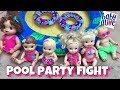 Baby Alive fight at the pool party over who goes first