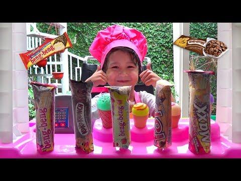 Misha Jadi Penjual Es Krim Beng Beng - Cara Membuat Es Krim Yang Lagi Viral