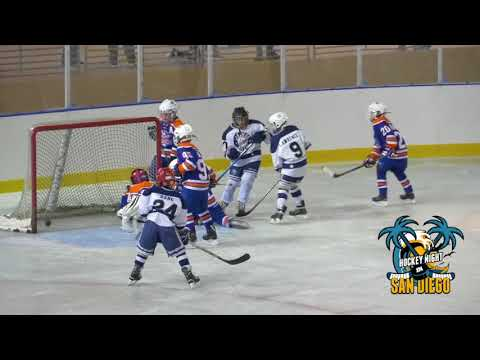 San Diego Oilers vs San Diego Jr Gulls Squirt BB at Frozen Fairgrounds Del Mar