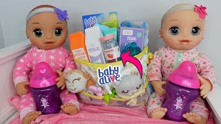 Packing baby doll Diaper Bag  to travel with baby alive real as can be baby doll