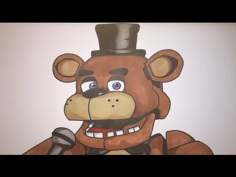 How To Draw Freddy Fazbear From Five Nights At Freddy's Step by Step