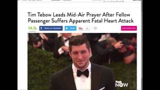 Tim Tebow Prays Over Heart Attack Victim on Plane