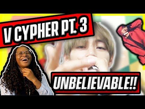 [HILARIOUS!] BTS V CYPHER PART 3 {REACTION} He's Too Lit!!