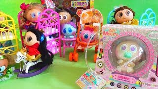 Unboxing Distroller Toys for Kids - We Adopt 3 Glitter Babies - Stories With Toys & Dolls