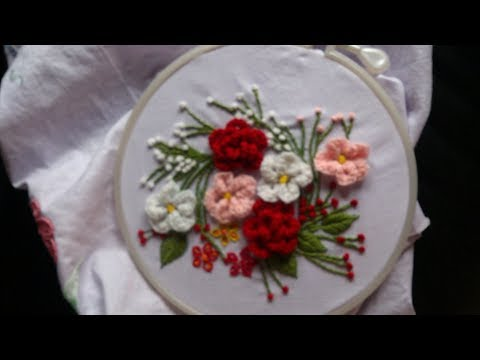 Hand embroidery. Brazilian embroidery. Embroidery for cushions.