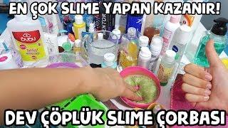 Yeni Slime Yap ÇÖPE AT ÇÖPLÜK SLİME VŞDEOSU Dev Çöplük Slime Çöplük Slaym Bidünya Oyuncak🦄