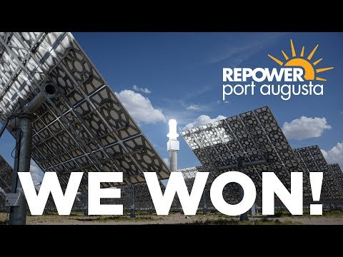 We won! A message from Lisa from Repower Port Augusta