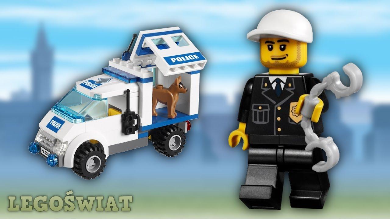Lego City Patrol Policji Z Psem 7285 Legoświat Youtube