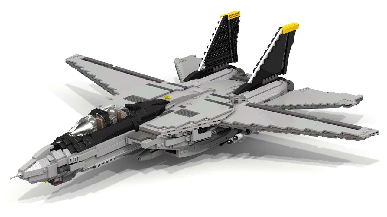 Lego F-14 Tomcat - YouTube