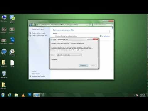 Create a Recovery Disc in Windows 7
